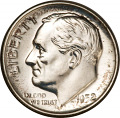 Compete set of Roosevelt Dimes, 1946PDS to 1964PD